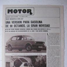 Coches y Motocicletas: MOTOR - SUPLEMENTO ESPECIAL DE AS COLOR MOTOS Y COCHES - AÑO 1977 - 4 OCTUBRE. Lote 39312515