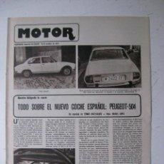 Coches y Motocicletas: MOTOR - SUPLEMENTO ESPECIAL DE AS COLOR MOTOS Y COCHES - AÑO 1977 - 18 OCTUBRE. Lote 39312587