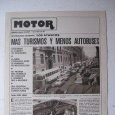 Coches y Motocicletas: MOTOR - SUPLEMENTO ESPECIAL DE AS COLOR MOTOS Y COCHES - AÑO 1977 - 11 OCTUBRE. Lote 39312596
