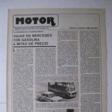 Coches y Motocicletas: MOTOR - SUPLEMENTO ESPECIAL DE AS COLOR MOTOS Y COCHES - AÑO 1977 - 29 NOVIEMBRE. Lote 39312637