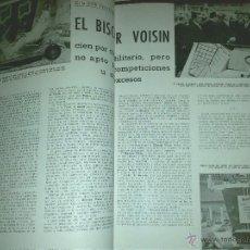 Coches y Motocicletas: EL AUTOMOVILISMO EN ESPAÑA, REVISTA TECNICA N. 140, JUNIO 1955, VESPA, BISCUTER DE VOISIN, TIENE 60. Lote 39397103