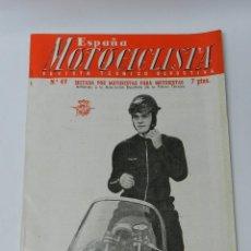 Coches y Motocicletas: ESPAÑA MOTOCICLISTA, REVISTA TECNICA DEPORTIVA N. 49, NOVIEMBRE 1955, TIENE 66 PAG. CON MUCHISIMAS F. Lote 39414415