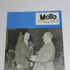 Coches y Motocicletas: RARA REVISTA ESPAÑOLA MOTO SPORT , Nº 22 - ENERO 1954 - 40 PAG - ANUNCIO VESPA - MIDE 27 X 21 CMS.. Lote 39414918