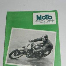 Coches y Motocicletas: RARA REVISTA ESPAÑOLA MOTO SPORT , Nº 32 - NOVIEMBRE 1954 - 40 PAG - ANUNCIO VESPA - MIDE 27 X 21 C. Lote 39414951