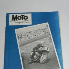 Coches y Motocicletas: RARA REVISTA ESPAÑOLA MOTO SPORT , Nº 43 - OCTUBRE 1955 - 40 PAG - MIDE 27 X 21 CMS.. Lote 39414999