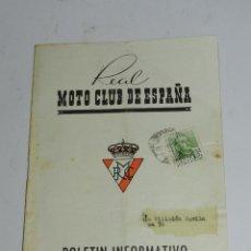 Coches y Motocicletas: BOLETIN INFORMATIVO REAL MOTO CLUB DE ESPAÑA - JUNIO DE 1955 - N. 61 - FORMATO: 21X16 CM. TIENE 32 P. Lote 39415528