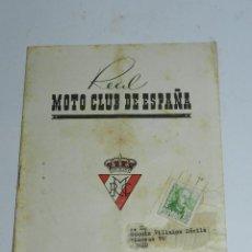 Coches y Motocicletas: BOLETIN INFORMATIVO REAL MOTO CLUB DE ESPAÑA - NOVIEMBRE-DICIEMBRE DE 1955 - N. 66-67 - FORMATO: 21X. Lote 39415675