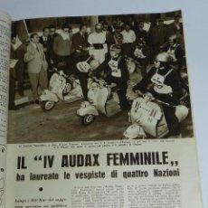 Coches y Motocicletas: REVISTA MOTOCICLISMO - N. 24 - JUNIO DE 1955, IV AUDAX FEMMINILE VESPA, ORGANIZADO POR VESPA CLUB DE. Lote 39429746