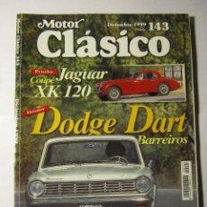 Coches y Motocicletas: REVISTA MOTOR CLASICO Nº143 DICIEMBRE 1999 DODGE DART BARREIROS CADILLAC CLUA DUCATI. Lote 39790602