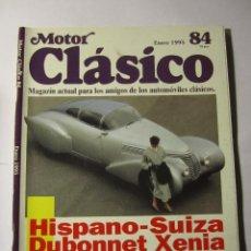 Coches y Motocicletas: REVISTA MOTOR CLASICO Nº84 ENERO 1995 HISPANO-SUIZA CITROEN DS PEDRO PI. Lote 39791011