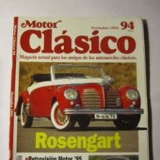 Coches y Motocicletas: REVISTA MOTOR CLASICO Nº94 NOVIEMBRE 1995 50 ANIVERSARIO MONTESA RICARDO QUINTANILLA. Lote 39791067