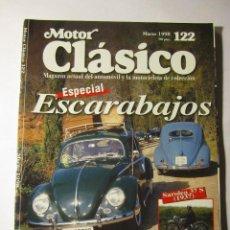 Coches y Motocicletas: REVISTA MOTOR CLASICO Nº122 MARZO 1998 ESPECIAL ESCARABAJOS BRUCE MCLAREN. Lote 152981732