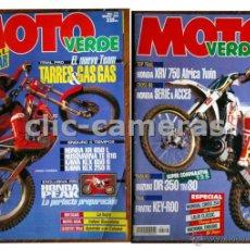 Coches y Motocicletas: LOTE DE 2 REVISTAS MOTO VERDE NÚM. 175 Y 177 - 1993. Lote 39922858