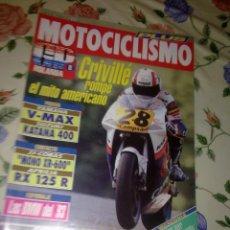 Coches y Motocicletas: MOTOCICLISMO Nº 1271 JULIO 92 CRIVILLÉ ROMPE EL MITO AMERICANO. Lote 53805417