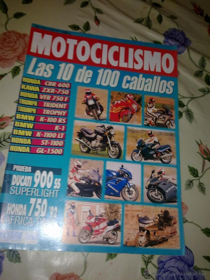 MOTOCICLISMO Nº 1270 JUN 1992 LAS 10 DE 100 CABALLOS . PRUEBA DUCATI 900 SS SUPERLIGHT HONDA 750 92 (Coches y Motocicletas - Revistas de Motos y Motocicletas)