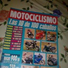 Coches y Motocicletas: MOTOCICLISMO Nº 1270 JUN 1992 LAS 10 DE 100 CABALLOS . PRUEBA DUCATI 900 SS SUPERLIGHT HONDA 750 92 . Lote 39931017