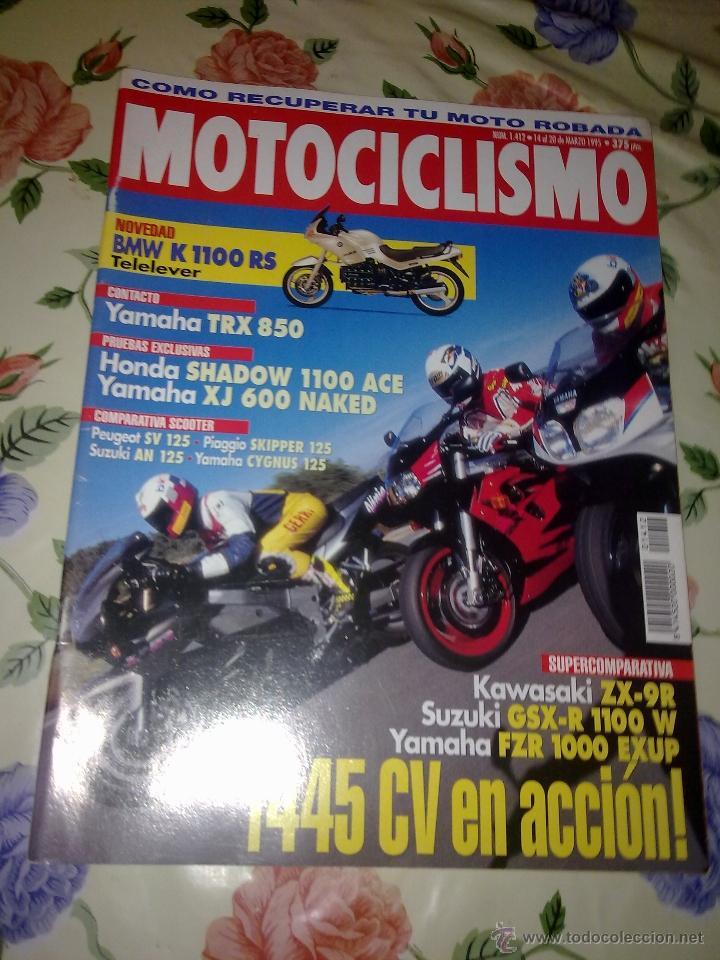 MOTOCICLISMO Nº 1412 MAR 95. NOVEDADES BMW K 1100 RS TELELEVER (Coches y Motocicletas - Revistas de Motos y Motocicletas)