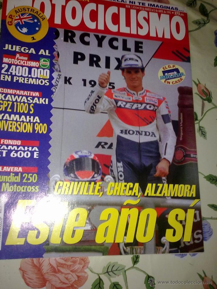 MOTOCICLISMO Nº 1414 MAR Y ABR. 95. CRIVILLE, CHECA, ALZAMORA. ESTE AÑO SI. (Coches y Motocicletas - Revistas de Motos y Motocicletas)