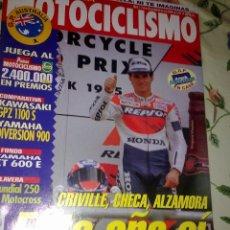 Coches y Motocicletas: MOTOCICLISMO Nº 1414 MAR Y ABR. 95. CRIVILLE, CHECA, ALZAMORA. ESTE AÑO SI.. Lote 53805457