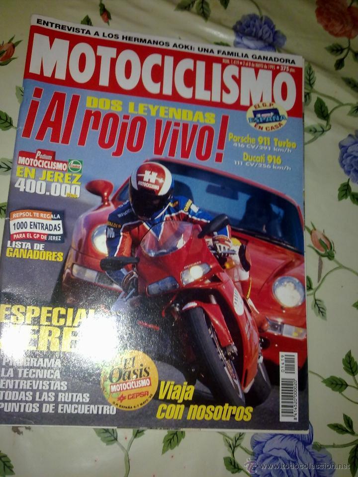MOTOCICLISMO Nº 1419 MAY 95. DOS LEYENDAS AL ROJO VIVO PORSHE 911 TURBO. DUCATI 916 (Coches y Motocicletas - Revistas de Motos y Motocicletas)