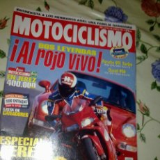 Coches y Motocicletas: MOTOCICLISMO Nº 1419 MAY 95. DOS LEYENDAS AL ROJO VIVO PORSHE 911 TURBO. DUCATI 916. Lote 39932233