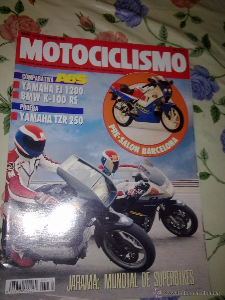 MOTOCICLISMO Nº 1210 MAYO 91 COMPARATIVA ABS YAMAHA FJ 1200 BMW K-100 RS PRUEBA YAMAHA TZR 250. (Coches y Motocicletas - Revistas de Motos y Motocicletas)