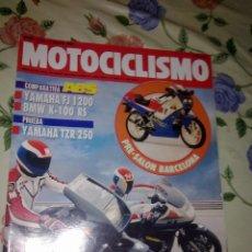 Coches y Motocicletas: MOTOCICLISMO Nº 1210 MAYO 91 COMPARATIVA ABS YAMAHA FJ 1200 BMW K-100 RS PRUEBA YAMAHA TZR 250. . Lote 39933216