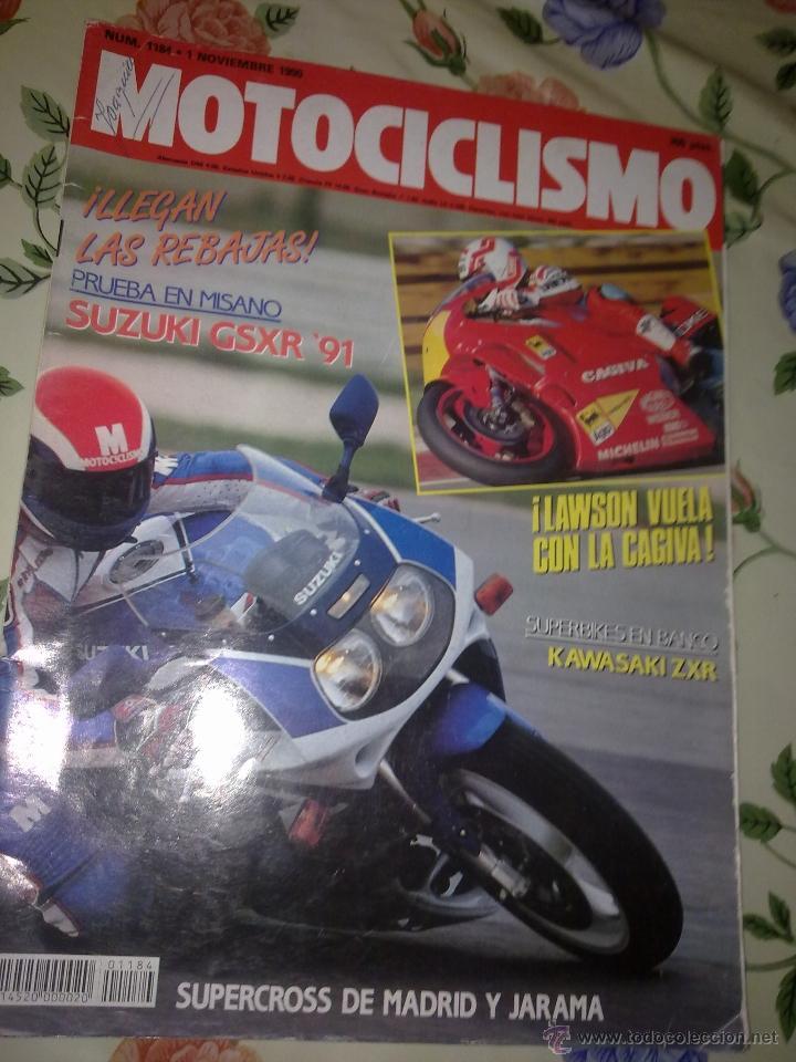 MOTOCICLISMO Nº 1184 NOV 90 LAWSON VUELLA CON LA GAGIVA. SURBIKES EN BANCO KAWASAKI ZXR. PRUEBA EN M (Coches y Motocicletas - Revistas de Motos y Motocicletas)