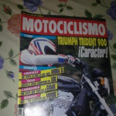 Coches y Motocicletas: MOTOCICLISMO Nº 1272 JUL 92 A FONDO TRIUMPH TREDENT 900 CARÁCTER. CRIVILLE NO TENIA CLARO LODEL 500.. Lote 39933546