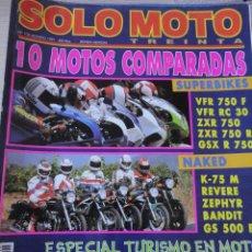 Coches y Motocicletas: REVISTA MOTOS SOLO MOTO 30 N 102 1991 SUPERBIKES NAKED. Lote 40066420