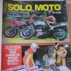 Coches y Motocicletas: REVISTA MOTOS SOLO MOTO 30 YAMAHA SUZUKI DENNIS NOYES. Lote 40066659