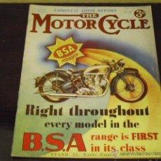 Coches y Motocicletas: THE MOTOR CYCLE AÑO 1938 -FACSIMIL-. MODELOS MOTOS INGLESAS AÑO 1938. Lote 40152994