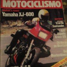 Coches y Motocicletas: REVISTA MOTOS MOTOCICLISMO 861 1984 YAMAHA XJ MONTJUIC SUZUKI. Lote 40491193