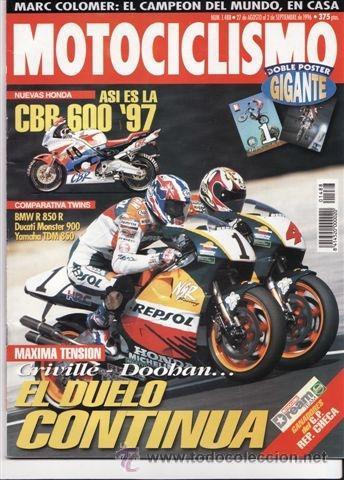 REVISTA MOTOCICLISMO Nº 1488 AÑO 1996. COMPARATIVA: BMW R 850 R, DUCATI MONSTER 900 Y YAMAHA TDM 850 (Coches y Motocicletas - Revistas de Motos y Motocicletas)