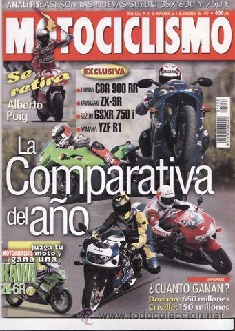 REVISTA MOTOCICLISMO Nº 1533 AÑO 1997. COMPARATIVA: BMW K 1200 RS Y BMW K 1100 RS. (Coches y Motocicletas - Revistas de Motos y Motocicletas)