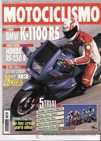 REVISTA MOTOCICLISMO Nº 1301 AÑO 1993. PRU.BMW K 1100 RS. HONDA RS 250 R. COMP:APRILIA CLIMBER 280 R (Coches y Motocicletas - Revistas de Motos y Motocicletas)