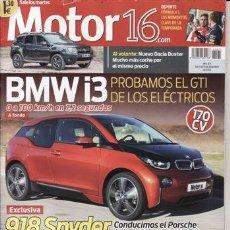 Coches y Motocicletas: REVISTA MOTOR 16 Nº 1571 AÑO 2013. PRUEBA: BMW I3. PORSCHE 918 SPYDER. . Lote 41290848