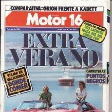 Coches y Motocicletas: REVISTA MOTOR 16 Nº 137 AÑO 1986. COMP: FERRARI 328 GTS Y PORSCHE 911 FORD ORION 1.4 CL Y KADETT 1.3. Lote 170775567