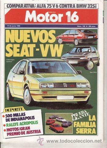 REVISTA MOTOR 16 Nº 138 AÑO 1986. PRUEBA: RANGE ROVER TD. COMPARATIVA: ALFA 75 V6 Y BMW 325I. (Coches y Motocicletas - Revistas de Motos y Motocicletas)