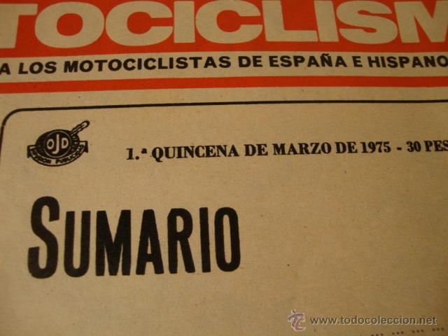 Coches y Motocicletas: REVISTA MOTO MOTOS MOTOCICLISMO Nº AÑO EN PORTADA - Foto 2 - 41692942