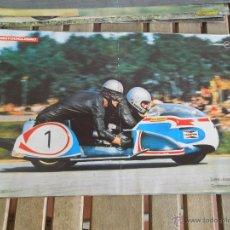 Coches y Motocicletas: POSTER DE LA REVISTA MOTOCICLISMO ENDERS ENGELHARDT BMW CAMPEONES DEL MUNDO 1973. Lote 42468001