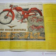 Coches y Motocicletas: CARTEL DE PUBLICIDAD DE MOTO GUZZI HISPANIA, MIDE 64 X 48 CMS.. Lote 42626222