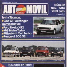 Coches y Motocicletas: REVISTA AUTOMOVIL Nº 82 AÑO 1984. PRUEBA: VW GOLF GTI OETTINGER. COMPARATIVA: FORD FIESTA XR2. Lote 42699181