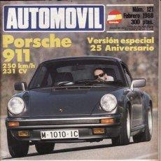 Coches y Motocicletas: REVISTA AUTOMOVIL Nº 121 AÑO 1988. PRU: PORSCHE 911 (231 CV). OPEL SENATOR 3.0I A. COMP: ADI 80 2.0. Lote 42699923