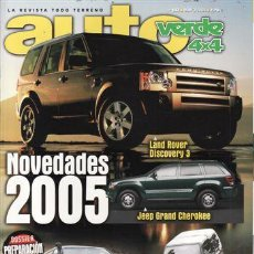 Coches y Motocicletas: REVISTA AUTO VERDE Nº 182 AÑO 2004. PRUEBA: TOYOTA LAND CRUISER 120. SUZUKI JIMNY 1.5 DDIS HARD TOP. Lote 109354412