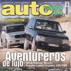 Coches y Motocicletas: REVISTA AUTO VERDE Nº 165 AÑO 2002. PRUEBA. TOYOTA LAND CRUISER HDJ80 24V. OPEL FRONTERA 2.2 DTI. CO. Lote 155608732