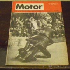 Coches y Motocicletas: MOTOR - MOTOR WEEKBLAD - ABRIL 1971 - NORTON MANX 490 T5 - KAWASAKI 350 2 T.DUNSTALL COMMANDO 810 -. Lote 43301384