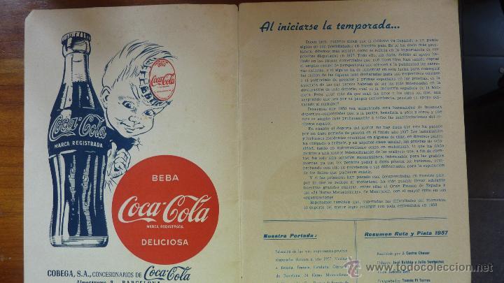 Coches y Motocicletas: Revista PISTA Y RUTA Ciclismo Motorismo y Automovilismo 1957 motociclismo cocacola Derby Mobilette - Foto 2 - 43409370