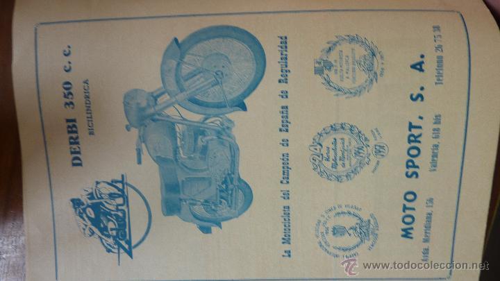Coches y Motocicletas: Revista PISTA Y RUTA Ciclismo Motorismo y Automovilismo 1957 motociclismo cocacola Derby Mobilette - Foto 7 - 43409370