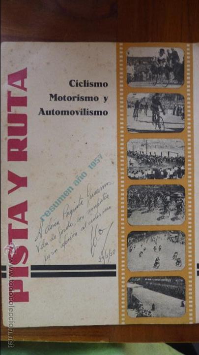 REVISTA PISTA Y RUTA CICLISMO MOTORISMO Y AUTOMOVILISMO 1957 MOTOCICLISMO COCACOLA DERBY MOBILETTE (Coches y Motocicletas - Revistas de Motos y Motocicletas)